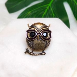Owl with Glasses Ring